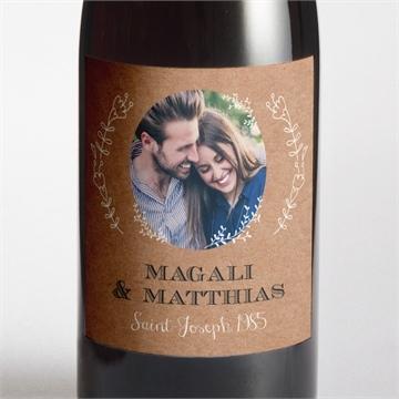 Etiquette de bouteille mariage réf.N3001367