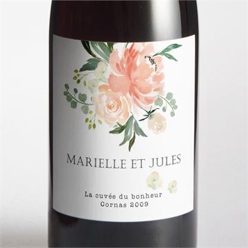 Etiquette de bouteille mariage réf. N3001374