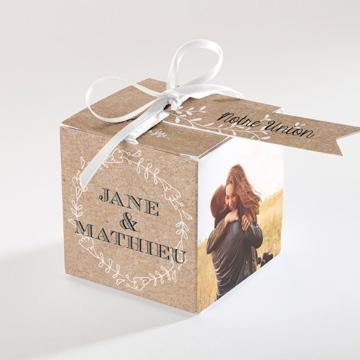 Boîte de dragées mariage réf.N340112