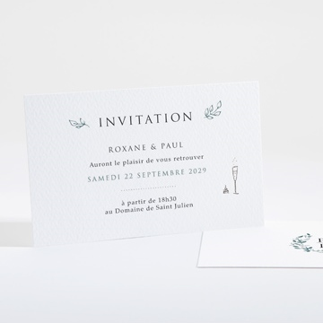 carton d 39 invitation mariage r f n16105 du faire part mariage r f n94115. Black Bedroom Furniture Sets. Home Design Ideas