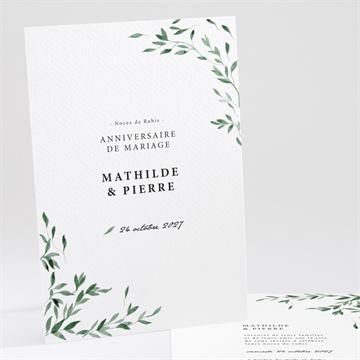 Invitations Danniversaire De Mariage à Personnaliser
