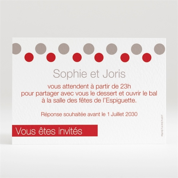 carton d 39 invitation mariage r f n12048 du faire part mariage r f n11107. Black Bedroom Furniture Sets. Home Design Ideas