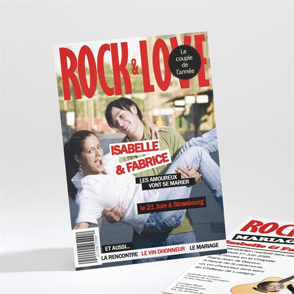 Faire-part mariage Rock and Love réf.N21162