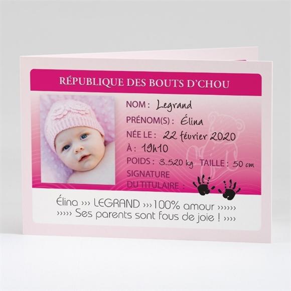 Faire Part Naissance Carte Identité Faire-part Naissance Réf