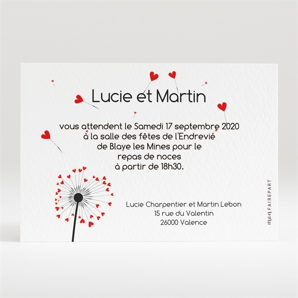 carton d 39 invitation mariage r f n120110 du faire part mariage r f n70113. Black Bedroom Furniture Sets. Home Design Ideas