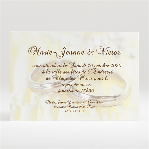 carton d 39 invitation mariage r f n120132 du faire part mariage r f n24009. Black Bedroom Furniture Sets. Home Design Ideas