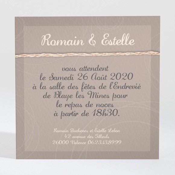 carton d 39 invitation mariage r f n300126 du faire part mariage r f n31145. Black Bedroom Furniture Sets. Home Design Ideas