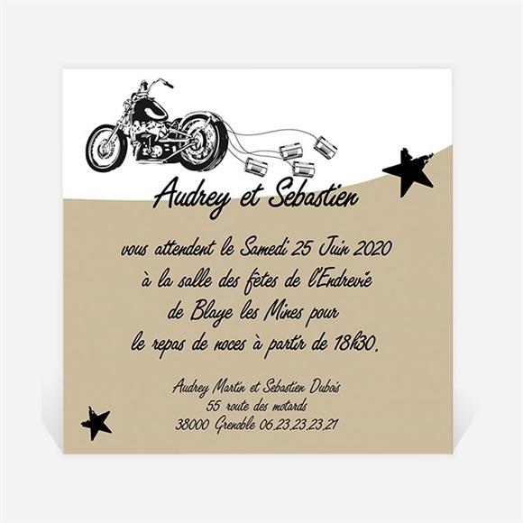 Carton Dinvitation Mariage Moto Vintage Du Faire Part