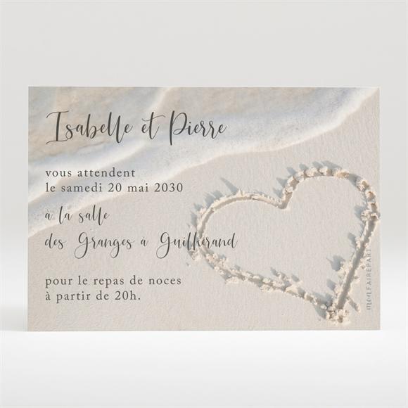 Carton d'invitation mariage Dans le Sable - monFairePart.com