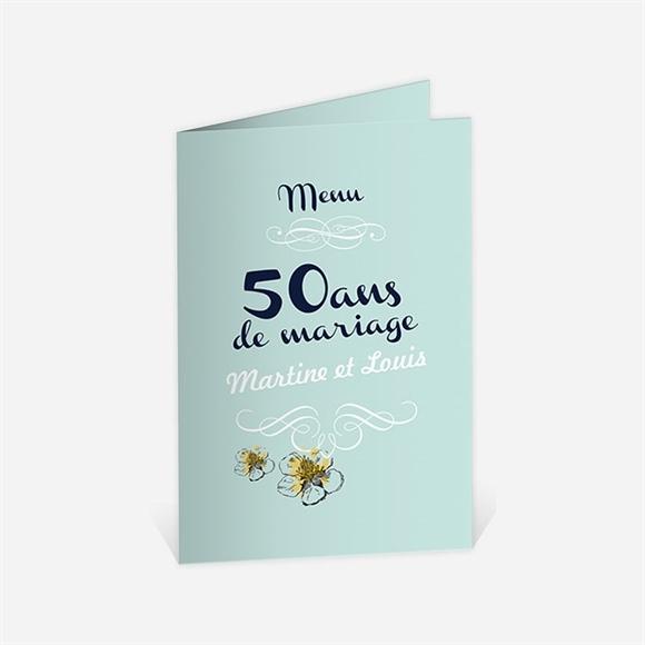 Menu Anniversaire De Mariage Nos Beaux Souvenirs Du Invitation