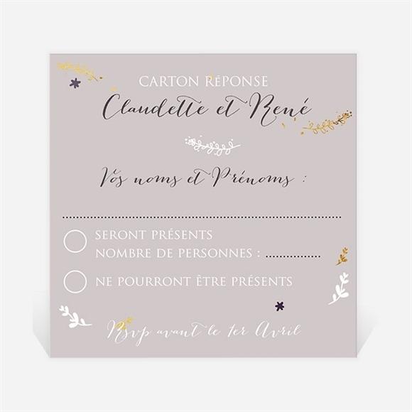 Carton Réponse Anniversaire De Mariage Carte Invitation Avec