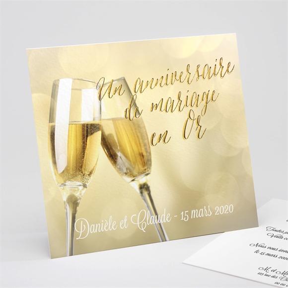 Invitation Anniversaire De Mariage Célébrons Nos Noces Dor