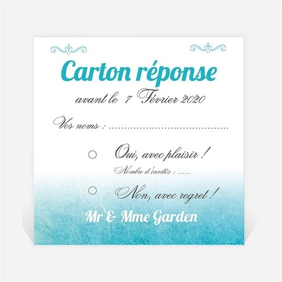 carton r ponse anniversaire de mariage r f n300487 du invitation anniversaire de mariage r f. Black Bedroom Furniture Sets. Home Design Ideas