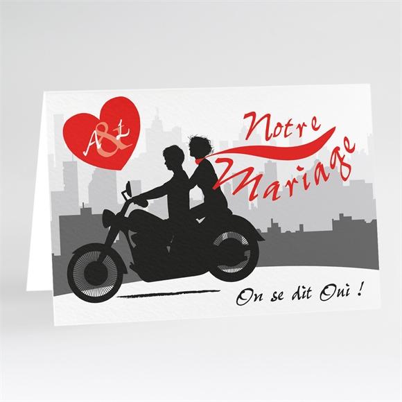 Faire Part Mariage Romantisme à Moto Monfairepartcom
