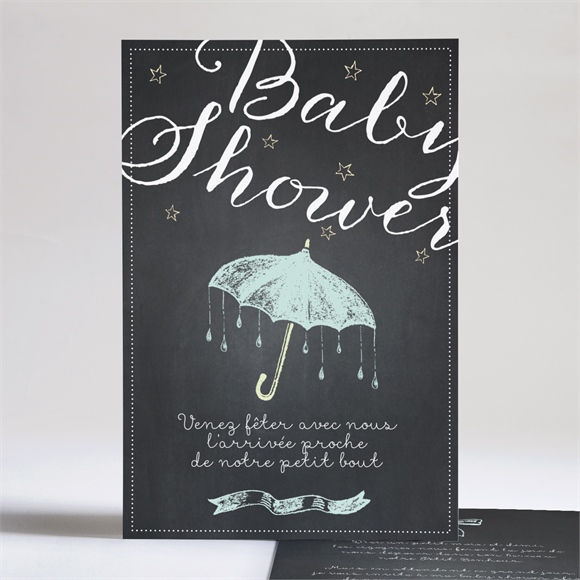 Faire-part baby shower Baby shower original ardoise réf.N24193