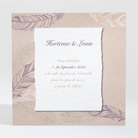 carton d 39 invitation mariage r f n3001037 du faire part mariage r f n91017. Black Bedroom Furniture Sets. Home Design Ideas