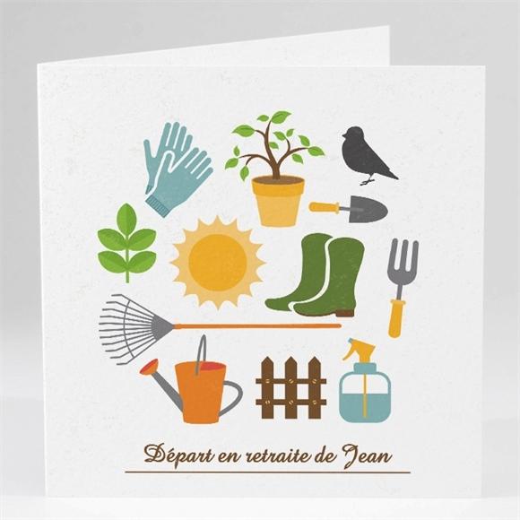 Carte Invitation Départ à La Retraite Loisirs Et Jardinage