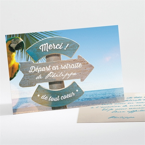 Remerciement Depart A La Retraite Ref N111137 Du Carte Invitation