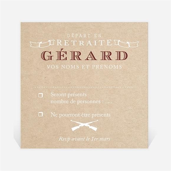 carton r ponse d part la retraite r f n3001193 du carte invitation d part la retraite r f. Black Bedroom Furniture Sets. Home Design Ideas