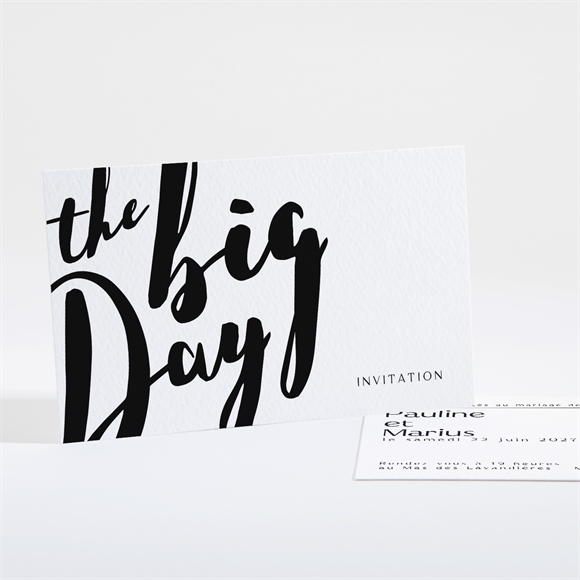 Carton d'invitation mariage The Big Day réf.N16168