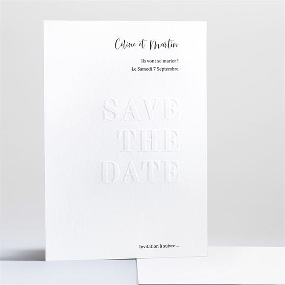 Save the Date mariage Follement Oui réf.N241217