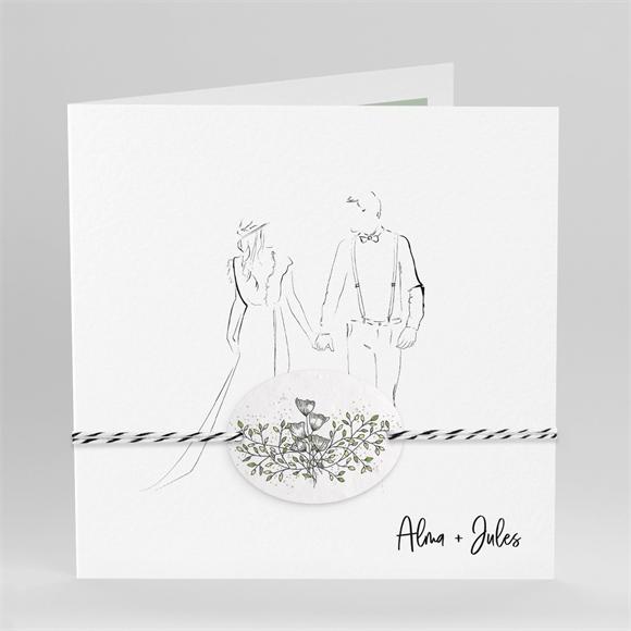 Faire-part mariage Beauté à fleurir réf.N451213