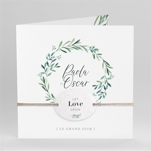 Faire-part mariage Semer notre Amour réf.N451214